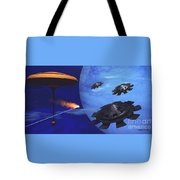 Floating Space City Tote Bag by Corey Ford