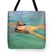 Floating Young Couple Tote Bag by Tomas del Amo - Printscapes