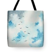 Flock Of Birds Tote Bag by Michael Vigliotti