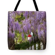 Flower - Wisteria - A House Of My Own Tote Bag by Mike Savad