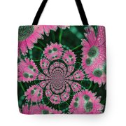 Flower Design Tote Bag by Karol Livote