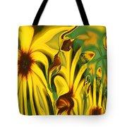 Flower Fun Tote Bag by Linda Sannuti