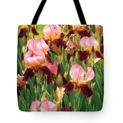 Flower - Iris - Gy Morrison Tote Bag by Mike Savad