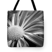 Flower Run Through It Black And White Tote Bag by James BO  Insogna