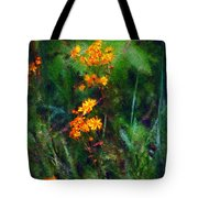 Flowers In The Woods At The Haciendia Tote Bag by David Lane