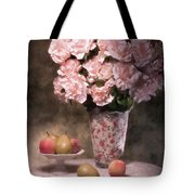 Flowers With Fruit Still Life Tote Bag by Tom Mc Nemar
