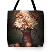 Flowers With Peaches Still Life Tote Bag by Tom Mc Nemar