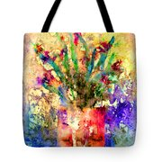 Flowery Illusion Tote Bag by Arline Wagner