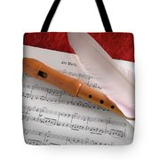 Flute And Feather Tote Bag by Carlos Caetano