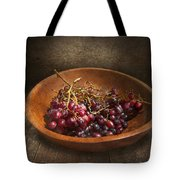 Food - Grapes - A Bowl Of Grapes  Tote Bag by Mike Savad