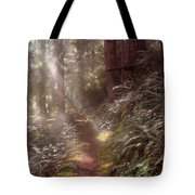 Forest Path Tote Bag by Leland D Howard