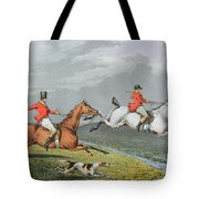 Fox Hunting - Full Cry Tote Bag by Charles Bentley