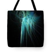 Fractal Rays Tote Bag by John Edwards