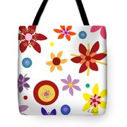 Fragrant Folly White Tote Bag by Ruth Palmer