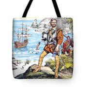 Francis Drake And The Golden Hind Tote Bag by Ron Embleton