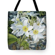 Frangipani Tote Bag by Danielle  Perry