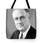 Franklin Delano Roosevelt Tote Bag by War Is Hell Store