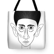Franz Kafka Tote Bag by Michal Boubin