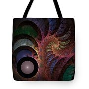 Freefall - Fractal Art Tote Bag by NirvanaBlues