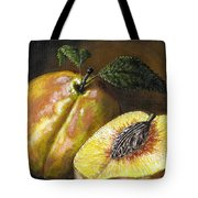 Fresh Peaches Tote Bag by Adam Zebediah Joseph