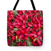 Fresh Red Radishes Tote Bag by John Trax