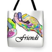 FRIENDS . . . An American Sign Language Painting Tote Bag by Eloise Schneider