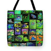 Frogs Poster Tote Bag by Nick Gustafson