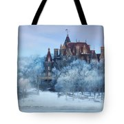 Frosted Castle Tote Bag by Lori Deiter