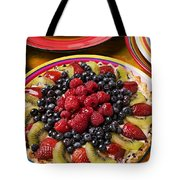 Fruit Tart Pie Tote Bag by Garry Gay