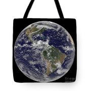 Full Earth Showing North America Tote Bag by Stocktrek Images