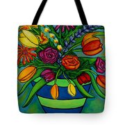 Funky Town Bouquet Tote Bag by Lisa  Lorenz