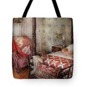 Furniture - Bedroom - A place to sleep Tote Bag by Mike Savad
