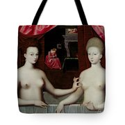 Gabrielle Destrees And Her Sister The Duchess Of Villars Tote Bag by Fontainebleau School
