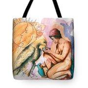 Ganymede And Zeus Tote Bag by Rene Capone