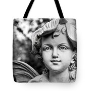 Garden Fairy - Bw Tote Bag by Christopher Holmes