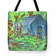 Garden Potting Shed Tote Bag by Cathie Richardson