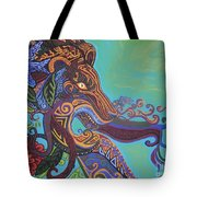 Gargoyle Lion Tote Bag by Genevieve Esson