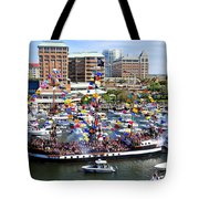 Gasparilla And Harbor Island Florida Tote Bag by David Lee Thompson