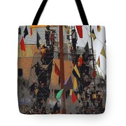 Gasparilla Ship Poster Tote Bag by Carol Groenen