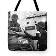 General Patton In Sicily Tote Bag by War Is Hell Store