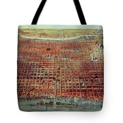 General View Of Philadelphia Tote Bag by Currier and Ives