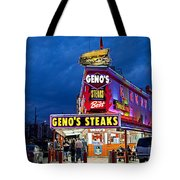 Geno's Steaks South Philly Tote Bag by John Greim