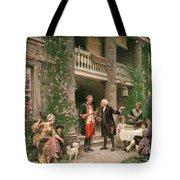 George Washington At Bartrams Garden Tote Bag by Jean Leon Jerome Ferris