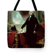 George Washington Tote Bag by Gilbert Stuart