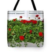 Geraniums On Window Tote Bag by Elena Elisseeva