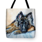 German Shepherd Tote Bag by Enzie Shahmiri