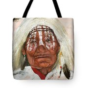 Ghost Shaman Tote Bag by J W Baker