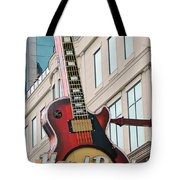 Gibson Les Paul Of The Hard Rock Cafe Tote Bag by DigiArt Diaries by Vicky B Fuller