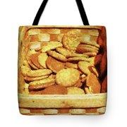 Ginger Snap Cookies In Basket Tote Bag by Susan Savad
