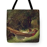 Girl in the Hammock Tote Bag by Winslow Homer